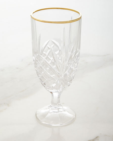 Godinger Dublin Gold Iced-Beverage Goblets, Set of 4