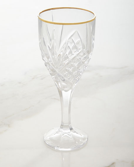 Godinger Dublin Gold Wine Goblets, Set of 4