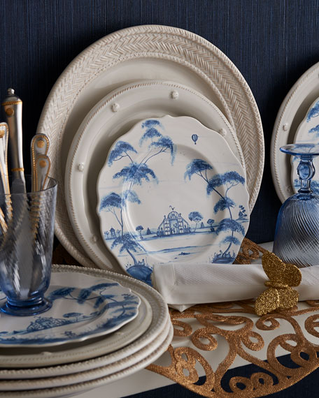 Berry & Thread Bright Satin with Gold Accents 5pc Place Setting