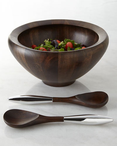 Three-Piece Espresso Yaro Salad Set
