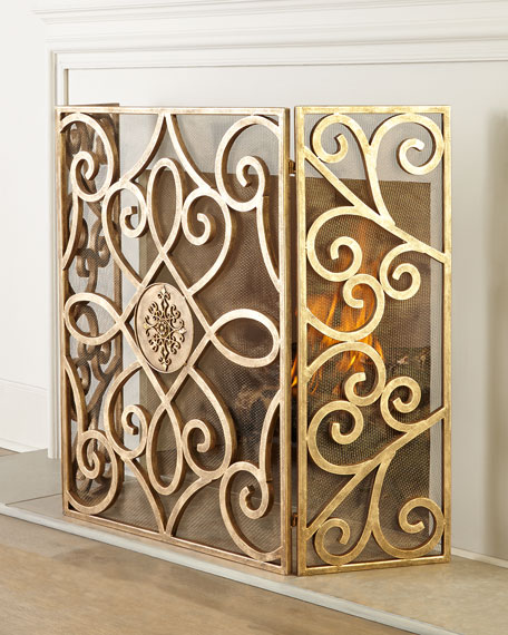 Neimanmarcus Patrice Medallion Fireplace Screen