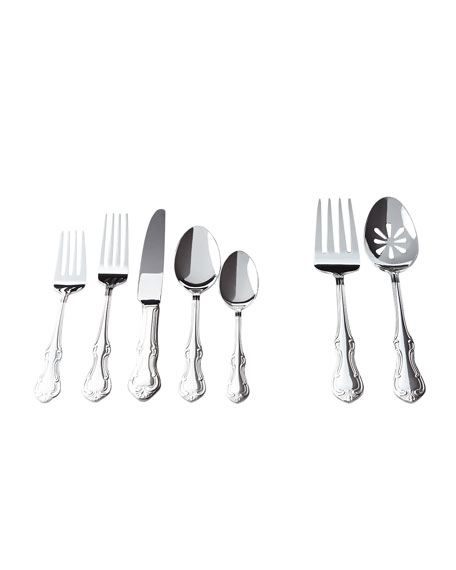 Wallace Silversmiths 65-Piece Lorelai Silver-Plated Flatware Service