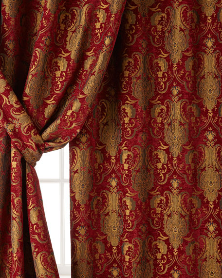 "Austin Horn Collection Two 96""L Scarlet Curtains"
