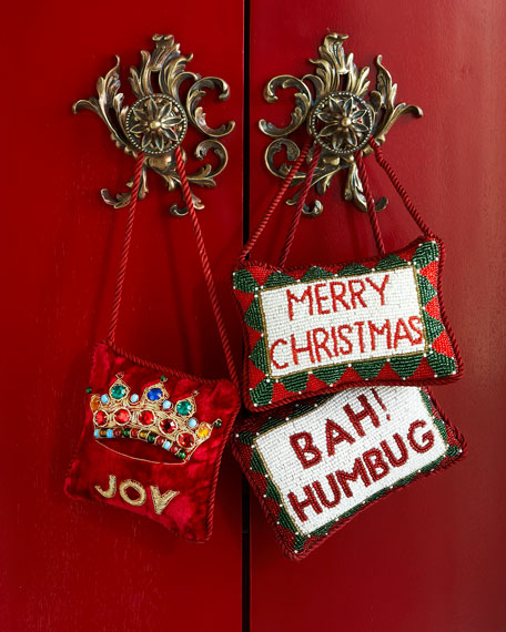 Sudha pennathur merry christmas door knocker for Neiman marcus christmas cards