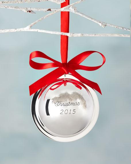 Christmas 2015 Silver Ball Ornament