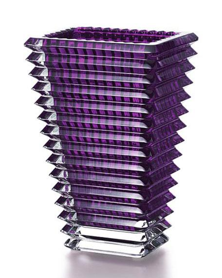Baccarat Small Purple Rectangular Eye Vase