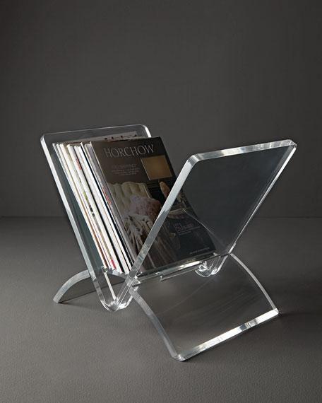 Versa Acrylic Magazine Rack