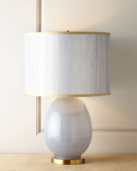 LARGE EGG TABLE LAMP - DOVE