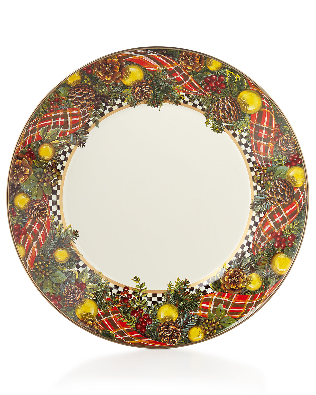 4acc882bc975 MacKenzie-Childs Evergreen Dinner Plate