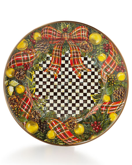MacKenzie-Childs Evergreen Salad Plate