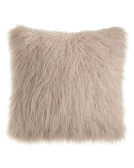 Khan Mauve Faux-Fur Pillow