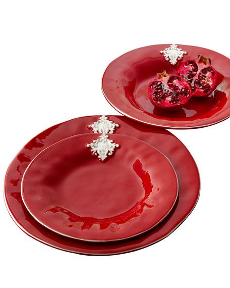 Red Crest Soup Bowls, Set of 4