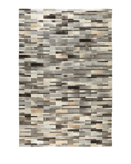 Mosaic Hairhide Rug, 5' x 8'