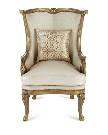 Golden Damask Chair