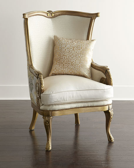 Massoud Golden Damask Chair