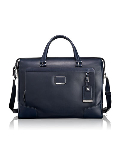 Astor Navy Regis Slim Zip-Top Brief
