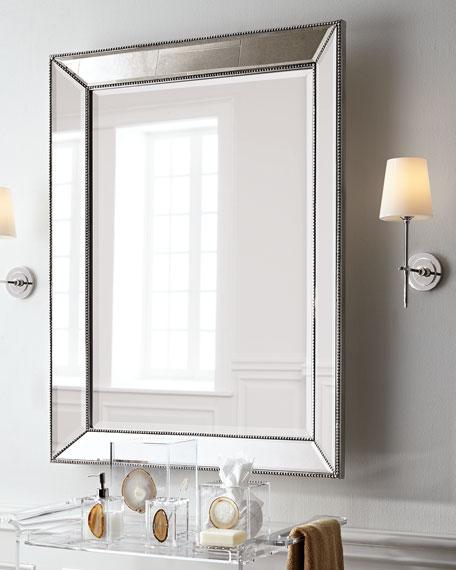 "Beaded Wall Mirror, 26""W"