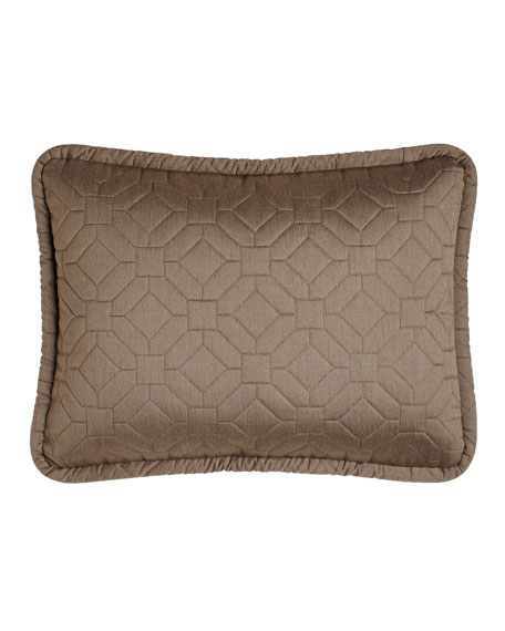 Couture Standard Quilted Geometric Sham