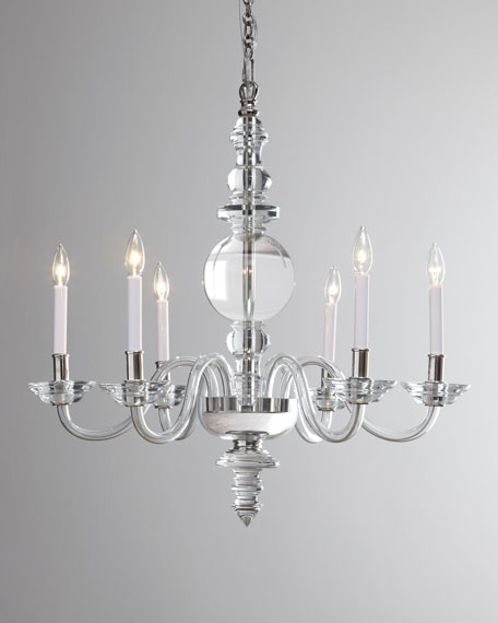 Visual Comfort George II Large 6-Light Polished-Nickel Chandelier