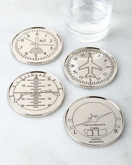 Godinger Four Airplane Coasters