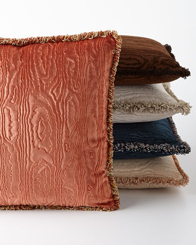 Faux Bois Velvet Accent Pillow, 18