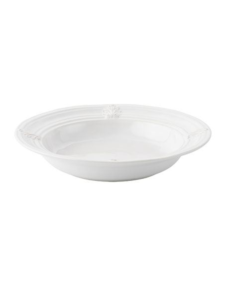 Juliska Acanthus Whitewash Pasta/Soup Bowl