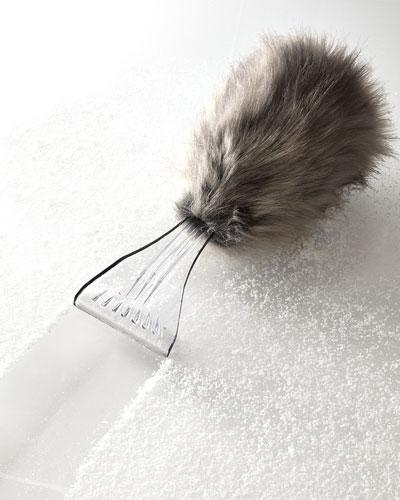 Faux-Fur-Covered Ice Scraper