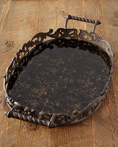 G G Collection Large Oval Tray