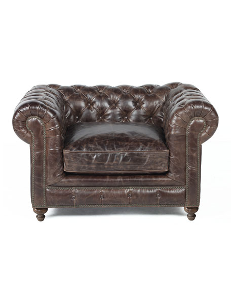 Warner Leather Collection Chair
