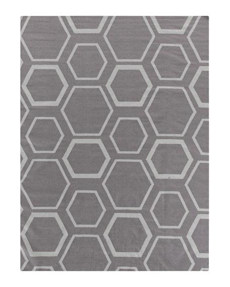 Exquisite Rugs Dark Gray Honeycomb Rug, 5' x