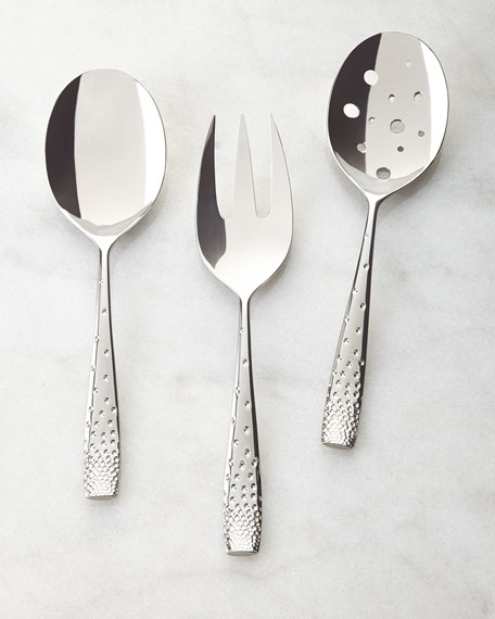 Nambe Three-Piece Dazzle Hostess Set