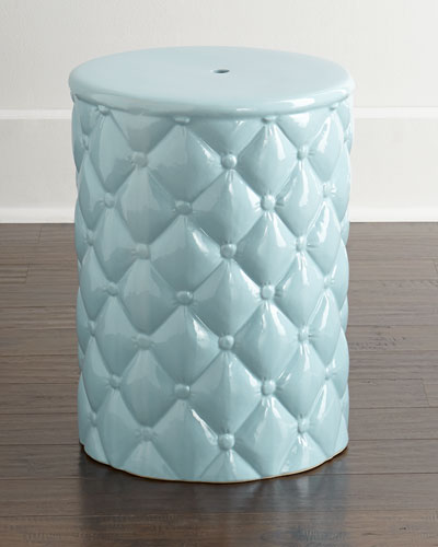 """Tufted"" Garden Stool"