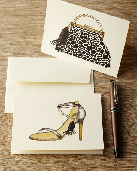 Giraffe Handbag & Heel Notecards