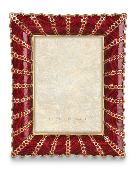 "Pave Ruffle 5"" x 7"" Picture Frame"