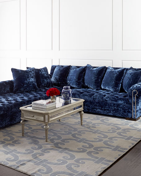 Haute House Divine Crushed Velvet Left Chaise Sectional