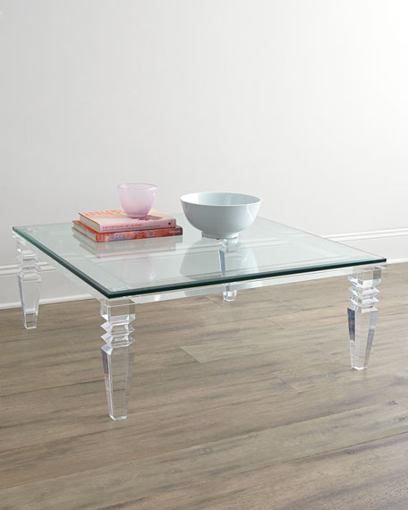 Interlude home christelle acrylic coffee table Acrylic clear coffee table