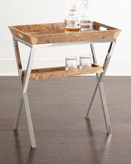 Olive Ash Burl Tray Table