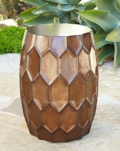 Honeycomb Bronze Garden Stool