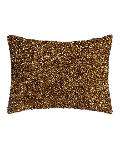 """Lili Alessandra Beaded Pillow, 12"""" x 16"""""""