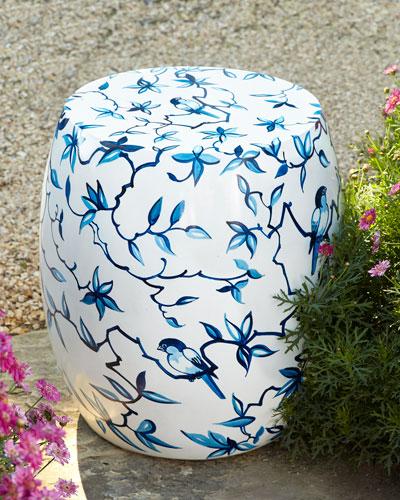 Bluebirds Garden Stool