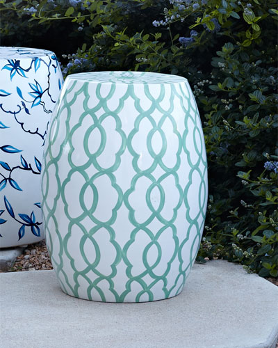 Pop Color Aqua Garden Stool