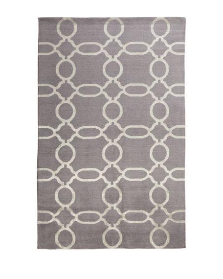 Gray Links Rug, 4' x 6'