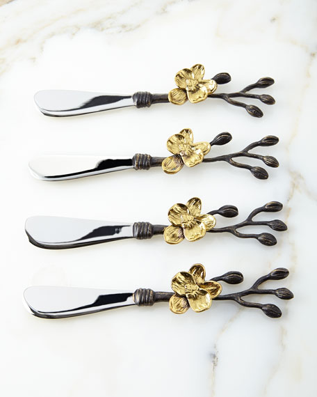 Michael Aram Four Gold Orchid Spreaders