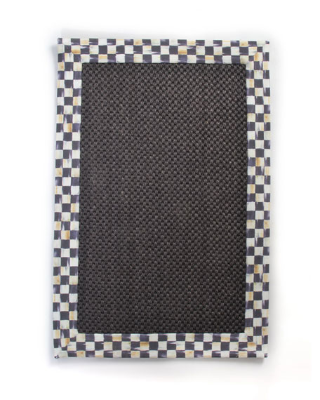 MacKenzie-Childs Courtly Check Black Sisal Rug, 2' x