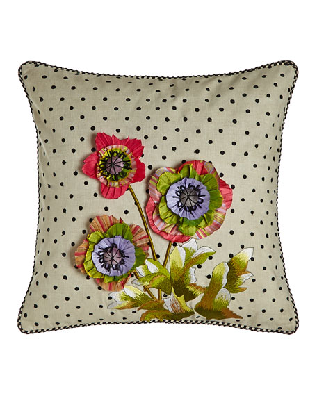 MacKenzie-Childs Cutting Garden Square Pillow