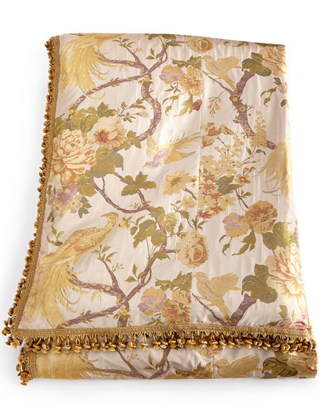 Queen Pheasant Duvet Cover with Onion Trim