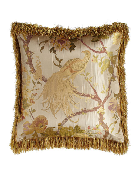 Sweet Dreams Pheasant European Sham with Brush Fringe