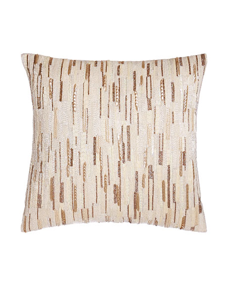 """Austin Horn Collection Luminous Sequined Pillow, 18""""Sq."""