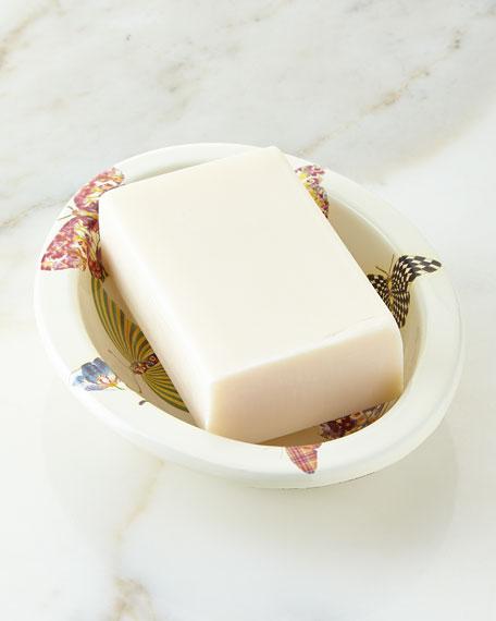 MacKenzie-ChildsWhite Butterfly Garden Soap Dish