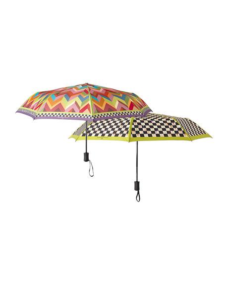Courtly Check Travel Umbrella